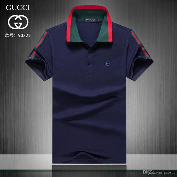 19ss Designers Mens PoloShirts Verão Luxurys Polo Camisa Dos Homens Solto Respirável Listrado Carta de Impressão Moda Casual Estilo Camisa de Marca Itália