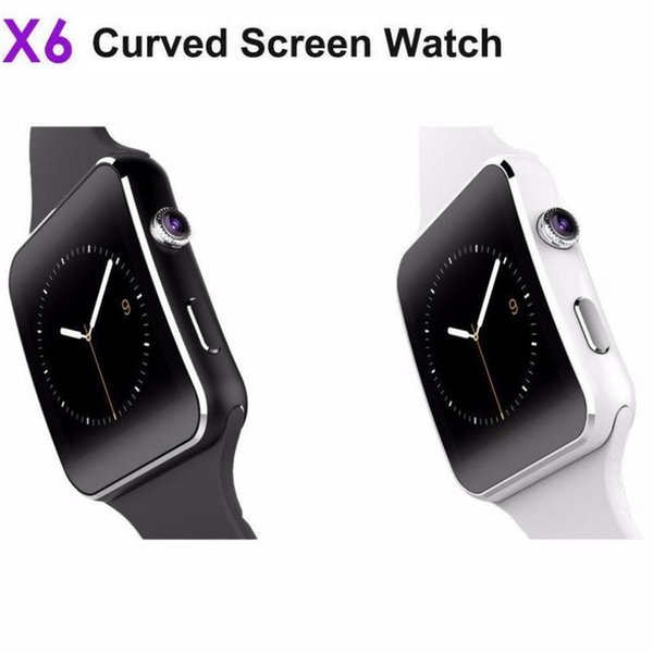 Última venta caliente Reino Unido Popular X6 Smart Watch Bluetooth SIM cámara del teléfono para Android / iOS Recordatorio de mensaje de llamada impermeable
