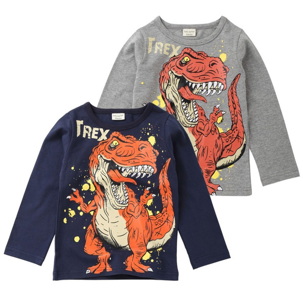 good quality Children Infant Kid Boys Cartoon Long Sleeve Dinosaur Letter Print T-shirt Tops Shirts Tee