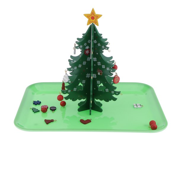 top popular Education Wooden Christmas Trees Children Education Toys Tool Model Group 2020