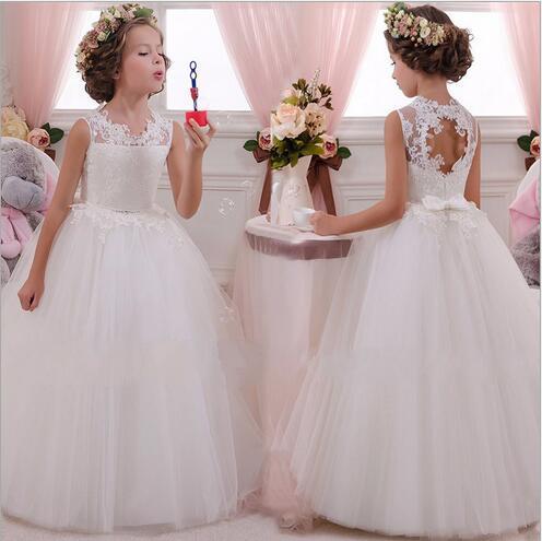 Compre Vestido De Fiesta De Noche Para Niñas 2019 Vestidos De Verano Para Niños Niñas Traje Elegante Vestido De Princesa Vestido De Boda De Las Niñas
