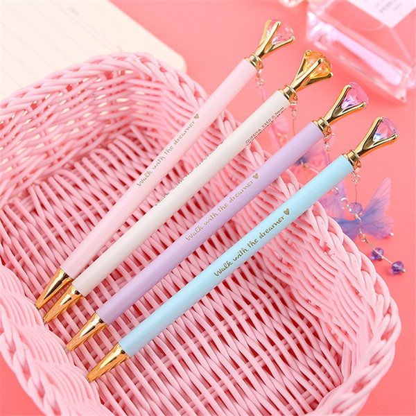 36pcs/Set Butterfly Pendant Mechanical Pencil Metal Diamond Pencil Crystal Head Pen School Office Supplies Student Gift