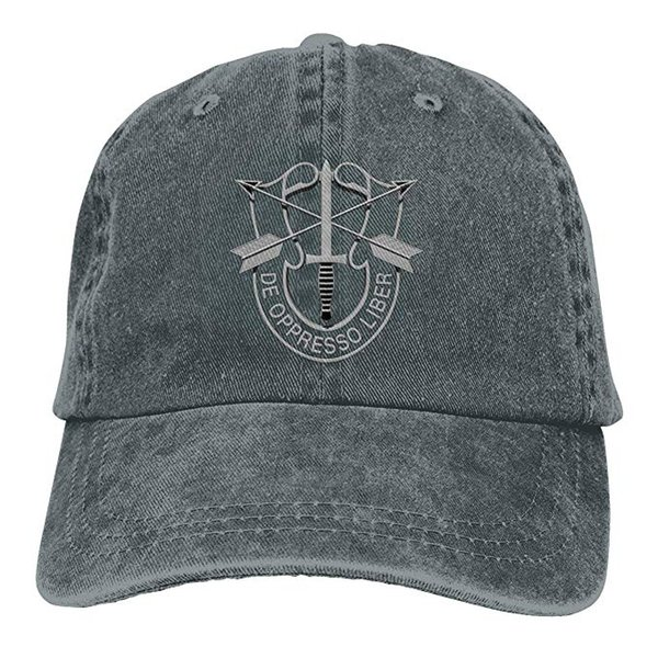 HX 2019 New Wholesale Baseball Caps US Special Forces Insignia Mens Cotton Adjustable Washed Twill Baseball Cap Hat