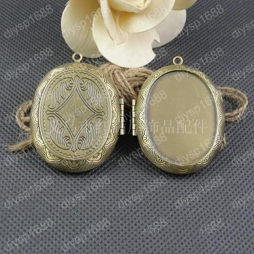 5pcs 39*51MM Fit 40*30MM Antique bronze photo locket charms vintage metal picture frame pendants necklace bracelet earring jewelry making