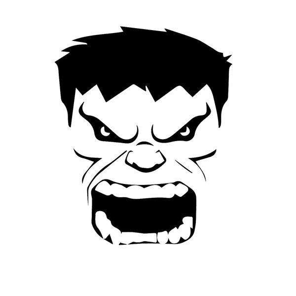 The Incredible Hulk Head Decal Window Bumper Sticker Car Retro Comic Cartoon Vinyl Decals