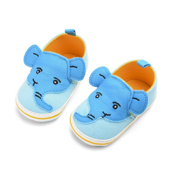 ARLONEET 2019 Newborn Baby Boys Elephant Cartoon Anti-Slip First Walkers Soft Sole Shoes Canvas Shoes Girl Toddler Infant