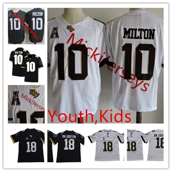 classic fit 36c82 eb56e Youth NCAA UCF Knights McKenzie Milton College Football Jersey Kids #18  SM.GRIFFIN Jersey Shaquem Griffin UCF Knights Jersey S X UK 2019 From  Xt23518, ...