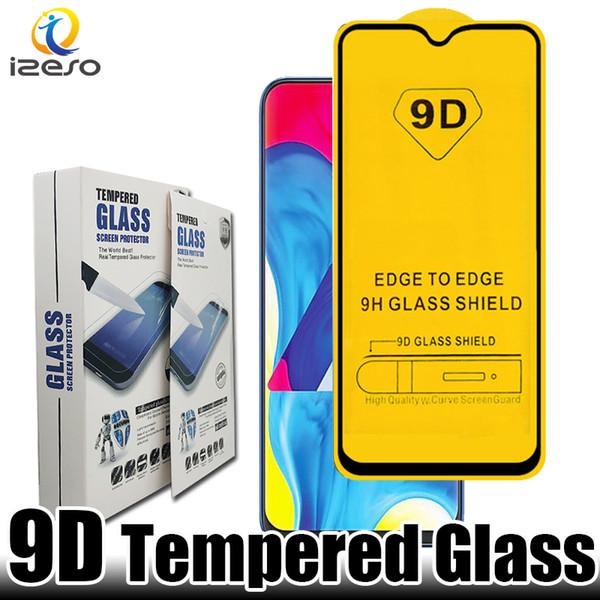 Für samsung m30 a90 a50 j10 2019 9d gehärtetes glas displayschutzfolie für lg g8 moto g7 nokia 8.1 mit kleinverpackung