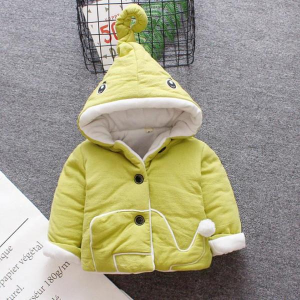 Baby-Oberbekleidung Mit Kapuze Neugeborene Jacken Mäntel Baby 6-24 Monate Baby Warme Jacken für freies Verschiffen