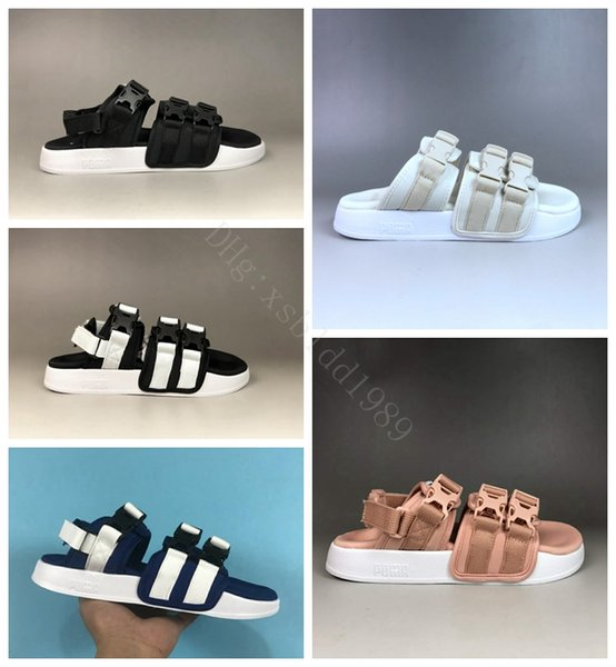Hot Sale-new mens beach sandals Womens fashion brand sandals College Campus Slipper Women Designer shoes men summer Flip flops