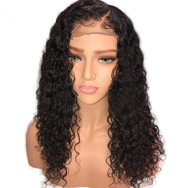 Wasserwelle lockige Perücken für Afroamerikaner, reines brasilianisches Menschenhaar Lace Front Perücken Glueless volle Spitze Perücken für schwarze Frauen