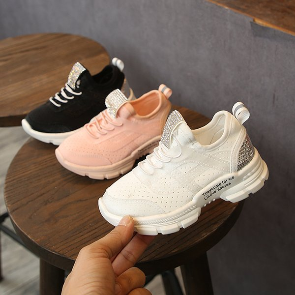 2019 New 30% OFF Spring White Light Breathable Children Walking Sneaker Thick Soled Flexible Boy Girl Kids Outdoor Jogging Shoes