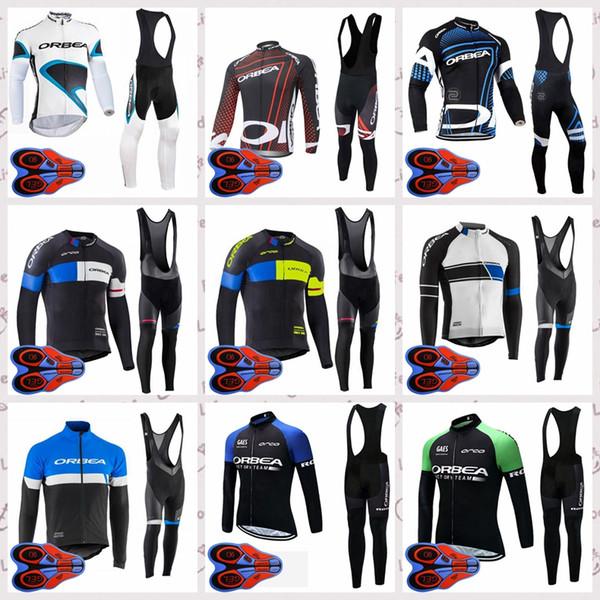 Команда ORBEA Открытый Велоспорт Джерси с длинными рукавами Полиэстер спортивная мужская верховая езда 9D Гель площадку нагрудник брюки наборы Q83006