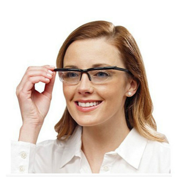Mode féminine Myopie clair Hommes Lunettes de lecture variable Vision Force Homme Femme Correction Binocular Mise au point réglable Gafas