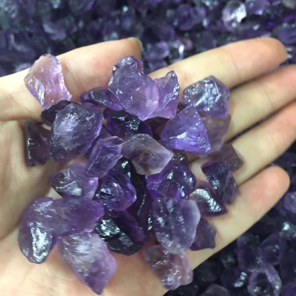 High Quality Brazil natural rough amethyst quartz specimen raw rock gemstone crystal healing energy stones DIY jewelry