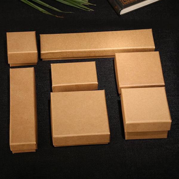 Großhandel 24 Teile Los Kraftpapier Geschenk Verpackung Box Handgemachten Ring Ohrring Anhänger Seife Süßigkeiten Weihnachtsgeschenk Box 5x5 Cm