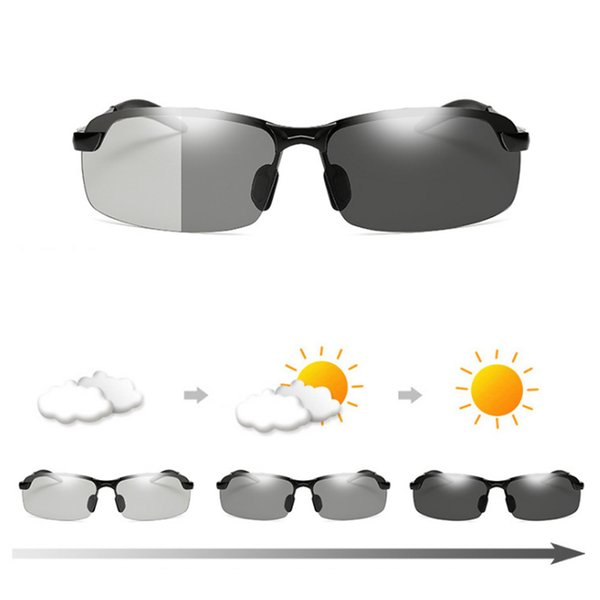 cbbdd0938d Gafas de sol polarizadas Gafas fotocromáticas Hombres Mujeres Oculos  Masculinos Lentes De Sol Hombre Gafas Lunette