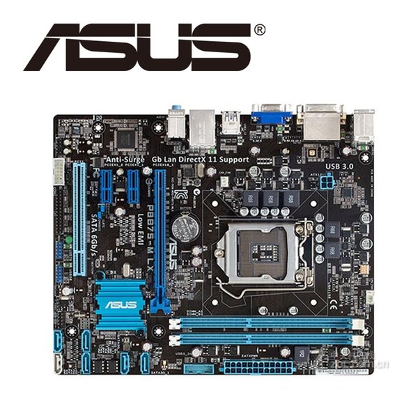 Asus P8B75-M LX Desktop Motherboard B75 Socket LGA 1155 i3 i5 i7 DDR3 16G uATX UEFI BIOS Original Used Mainboard On Sale