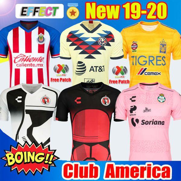 New Chegou 2019 20 Clube América Camisas de Futebol 2020 México Club de Cuervos Casa Longe Terceiro Guadalajara Chivas kit 19 20 Camisas de Futebol soccer jersey