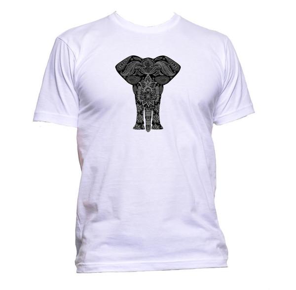 Ethnic Grey Elephant Drawing Unisex T-Shirt Mens Womens Fashion Comedy Cool Gift white black grey red trousers tshirt