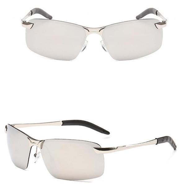Polarisierte Sonnenbrille Männer Metallrahmen Halbrandlose Sport Sonnenbrille Markendesigner Für Männer Frauen Fahren Angeln Im Freien