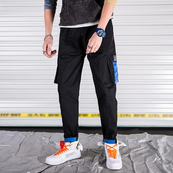 Erkekler Kargo Pantolon Casual Erkek Cep Genel Erkek Pamuk Pantolon Casual koşucuların pantolon 12