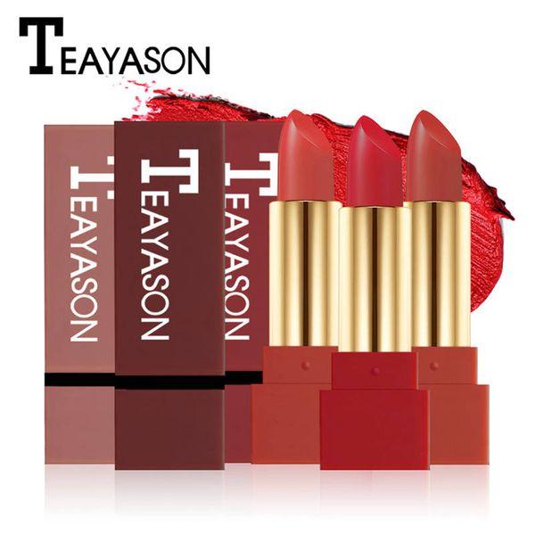 TEAYASON Brand Waterproof Matte Lipstick Pen For Women Long Lasting Batom Dark Red Velvet Balm Rouce a Levre Natural Makeup Lip Stick