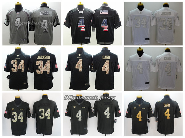 first rate e7576 5b024 2019 2018 Men Oakland Jersey Raiders 34 Bo Jackson 4 Derek Carr Color Rush  Football Stitching Jerseys Embroidery From Great001, $21.32 | DHgate.Com