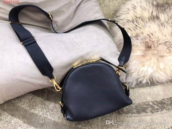 Latest Genuine leather one-shoulder bag Pure color cowhide bag for women Fashion classic ladies bag