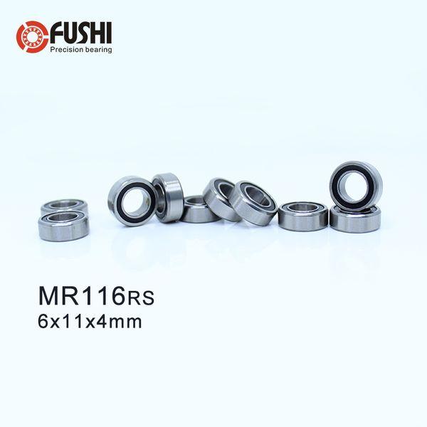 4 PCS Metal Rubber Sealed Ball Bearings 6*11*4 MR116RS 6x11x4 mm MR116-2RS