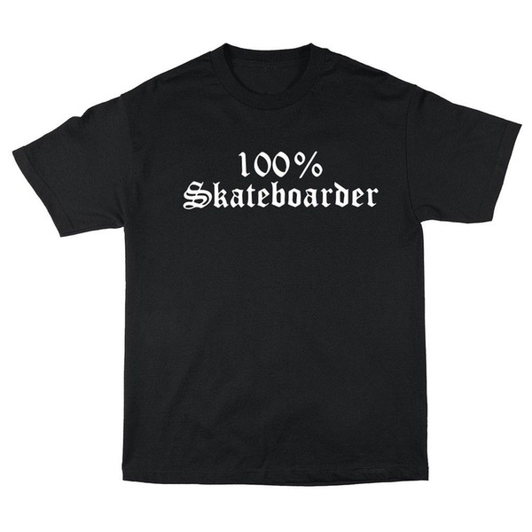 HARD LUCK MFG 100% SKATEBOARDER T SHIRT NERO S M L XL NEW- JASEE JESSEE DRIVEN stampato personalizzato tshirt, hip hop divertente tee, mens magliette