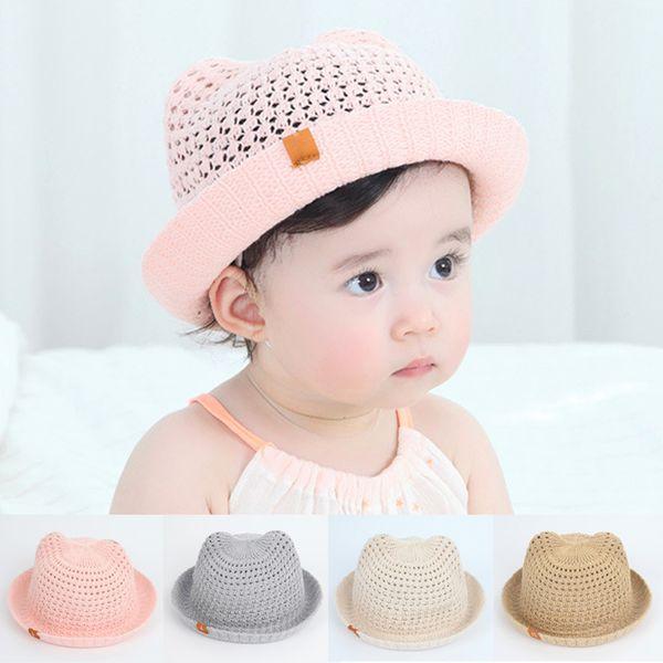 Panama Children's Summer Baby Hats Children Bucket Cap For Infant Baby Boys Girls Sun Hat Hollow Mesh Caps Casual Beach Caps