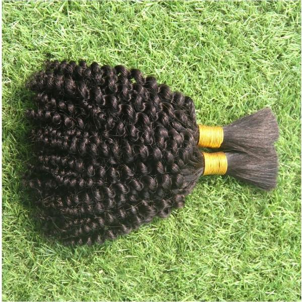 Colore naturale puro Nessuna trama Human Bulk per intrecciare i capelli 100g Loose Braided Hair Braiding Hair Bulk Body Wave Braiding