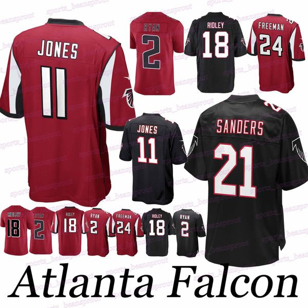 a7d6030d 2019 Falcon Jerseys 11 Julio Jones 21 Deion Sanders Atlanta 24 Devonta  Freeman 2 Matt Ryan 18 Ridley Jersey From Sports_beansprout, $23.26 | ...