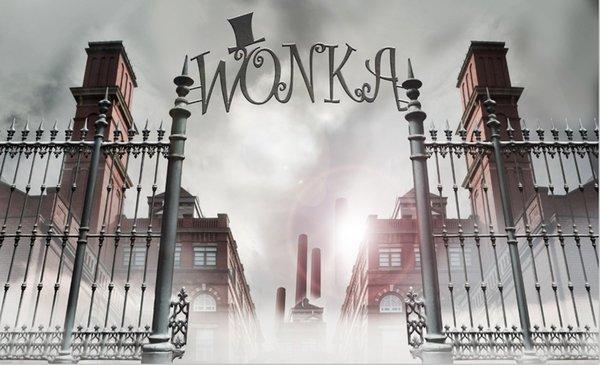 Compre 7x5ft Willy Wonka Chocolate Factory Entrada De La Puerta De Acero Estudio Fotográfico Personalizado Fondo De Fondo Vinilo 220 Cm X 150 Cm A