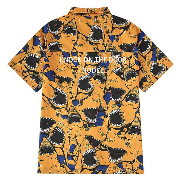 hawaiian shirt Летний отдых американских пяти рукавов HC поощрение мужской Гавайский приморского отдых с короткими рукавами рубашки пляжа цветок рубашка ST7