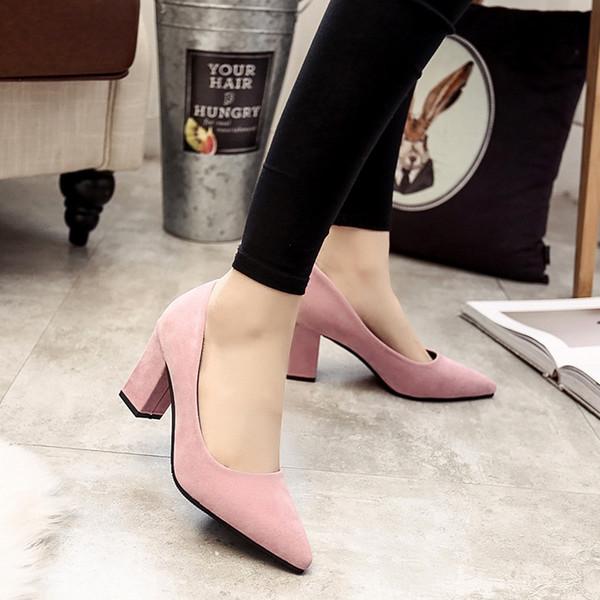 Tamanho 34-39 2019 Nova Moda Senhoras Bombas Sexy Mulheres Raso Concise Sapato de Salto Alto Escritório Charme Sapatos de Alta Qualidade Mulher