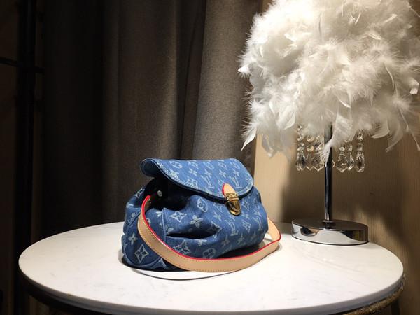 Famous 2019 Brand Italy Designer G Print letter pattern Messenger Bag Vintage Crossbody Bag Limited Classic Denim Underarm Shoulder Bag