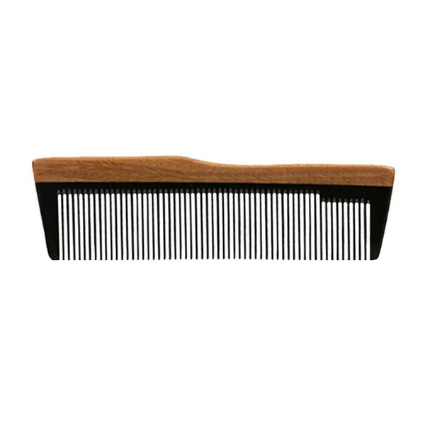 Pocket Hair Comb Wholesale Supplier Horn Wood Hair Care Styling Tool Curly Haircut Fade Comb Over Beard Style Christmas Gift For Men Women