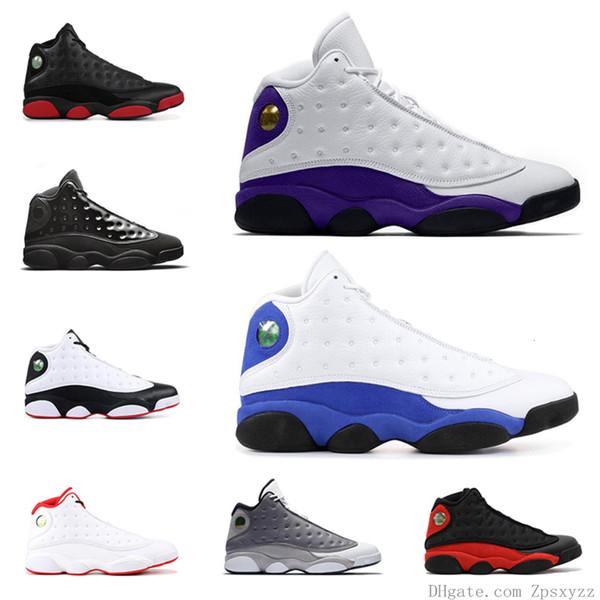 2019 Hommes Chaussures de basket-ball 13 13s Cour pourpre chapeau et robe Bred Atmosphere Gris Autre Chicago Phantom Baskets Baskets Taille 7-13