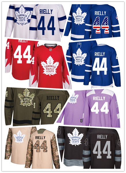 Toronto Maple Leafs jerseys #44 Morgan Rielly jersey ice hockey men women blue white red Authentic winter classic Stiched gears Jersey