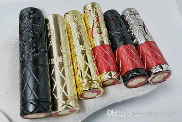 Filipinas Mejor diseño popular 18650 20700 Latón purga reina suicidio mecánico mod clon negro plata con buen precio mejor e cigarrillo mod