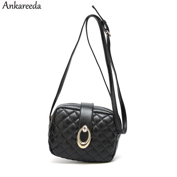 Ankareeda 2018 новая мода женщины сумка Lingge лоскут дизайнер сумки клатч дамы сумки посыльного для женщин