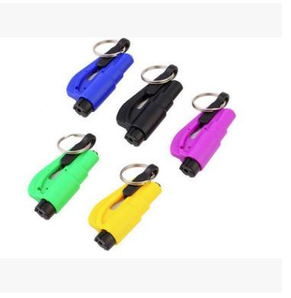top popular 1000pcs 3 in 1 Emergency Mini Safety Hammer Auto Car Window Glass Breaker Seat Belt Cutter Rescue Hammer Car Life-saving Escape Tool lin4559 2019