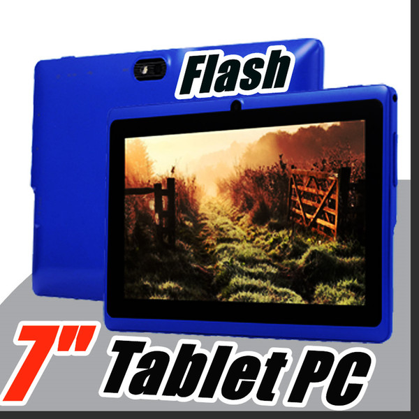 top popular 168 Allwinner A33 7 inch 8GB 512MB Capacitive A33 Quad Core Android 4.4 dual camera Tablet PC WiFi EPAD Youtube Facebook C-7PB 2021
