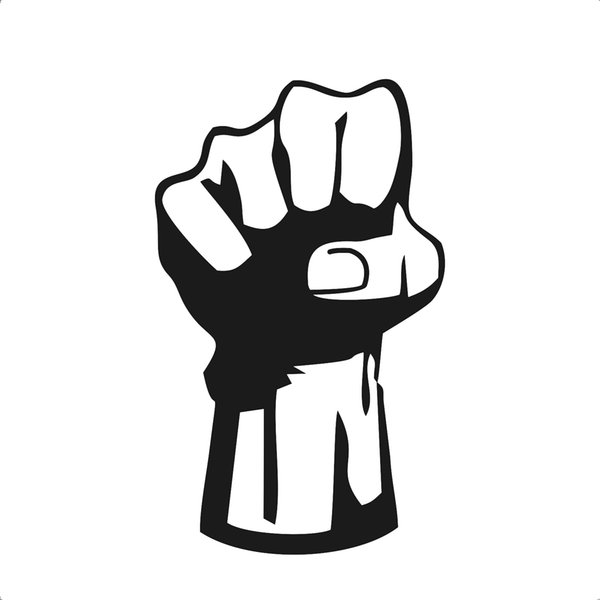 Graphics Hand Fist Cool Vinyl Car Truck Window Laptop Helmet Decal Sticker Handsome And Cool Stickers