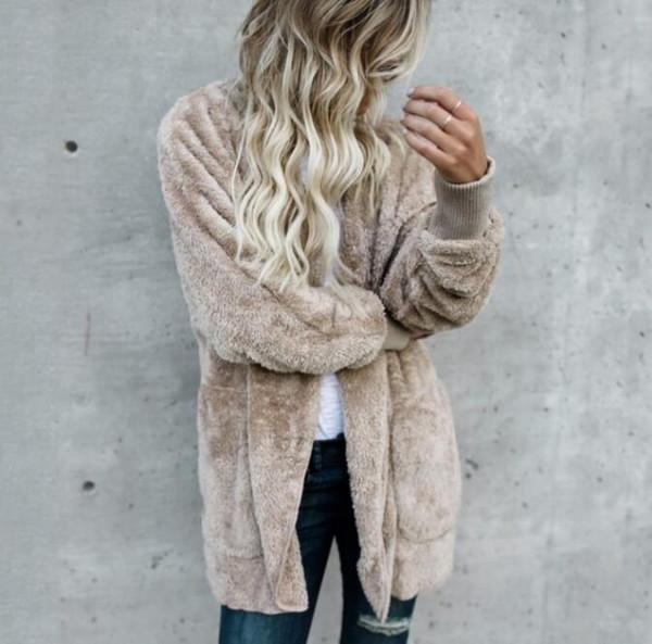 Hiver Femmes Sweat Femelle Automne Zip-up Polaire Longs Hoodies Dames Hauts Casual Fourrure Femme Sweat-shirts de Haute Qualité