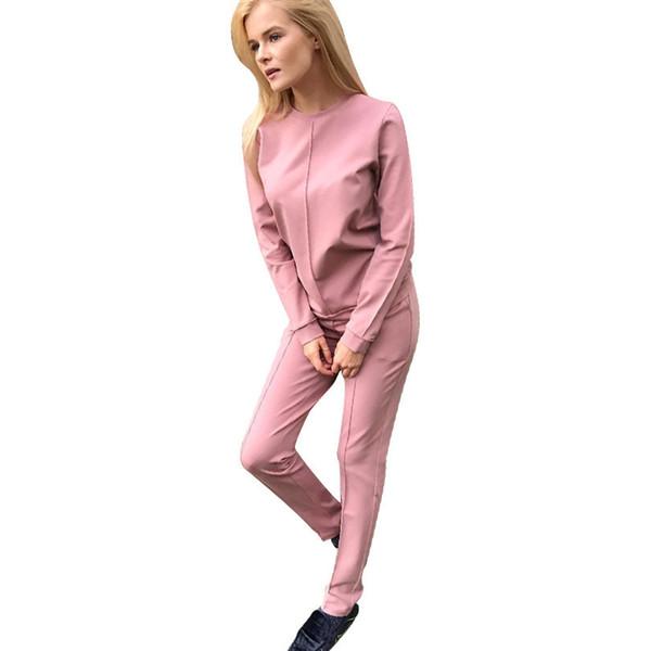Felpe con cappuccio da donna Autunno Tute da donna di New Fashion Russia Style T-shirt da 2 pezzi + Pantaloni lunghi Tute da jogging