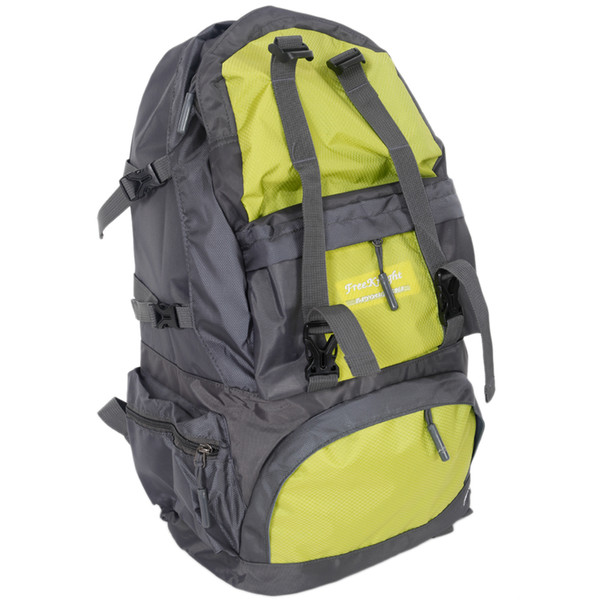 Free Knight 50L FK0218 Outdoor Waterproof Nylon Hiking Camping Backpack Green Yellow