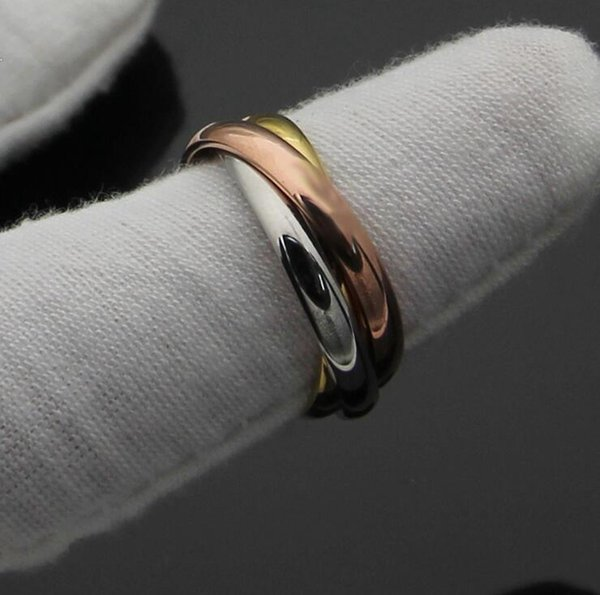 Designer Wedding Rings for Lovers Brand Three color Mixed Carter Love Anel anello Aneis Engagement Ring for Women Men With Red box